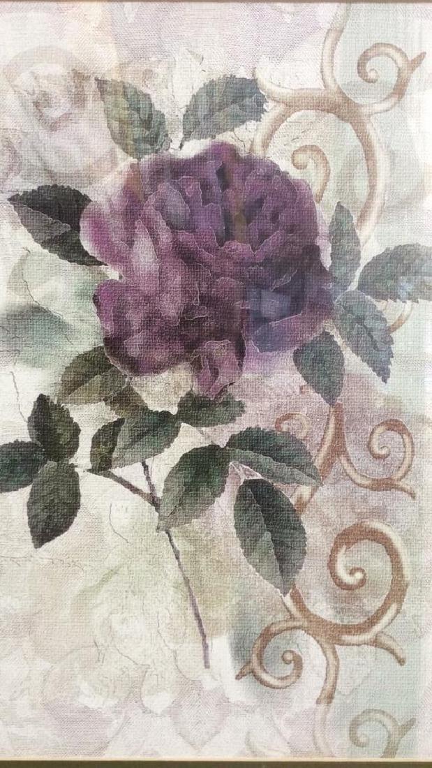 Framed & Matted Floral Botanical Print - 4