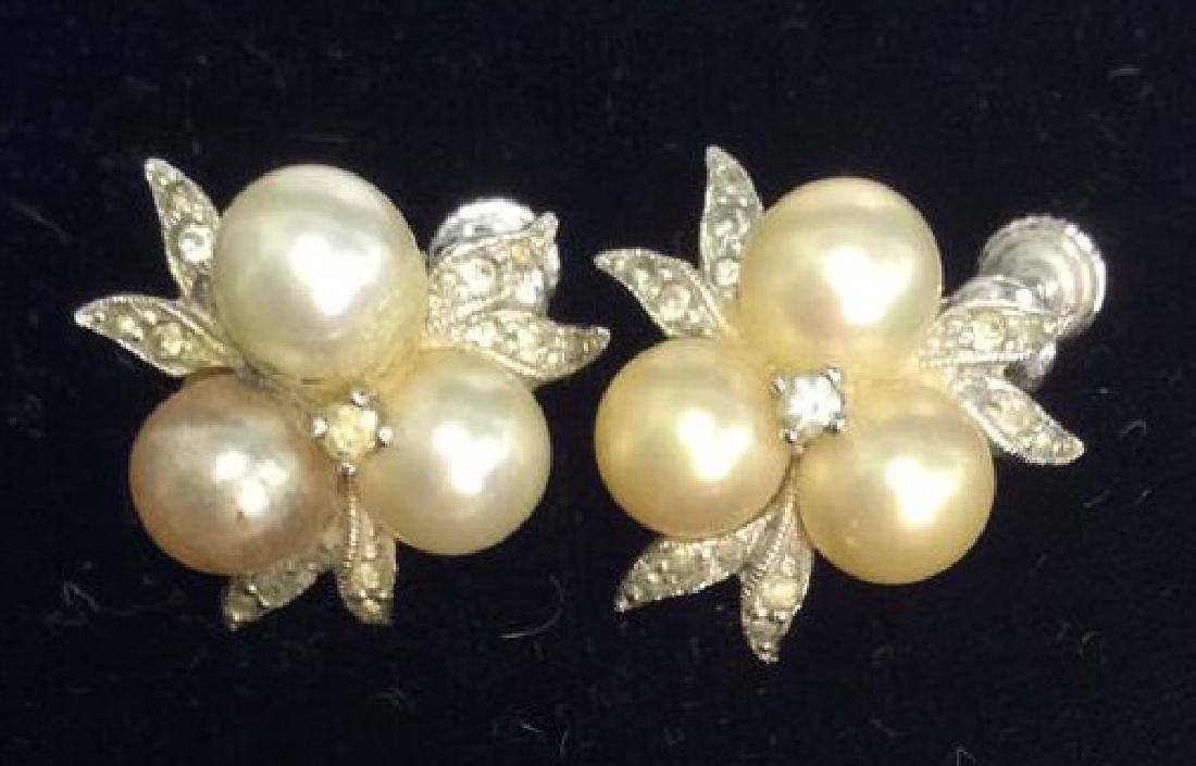 Group Lot 5 Vintage Pearl Jewelry - 7