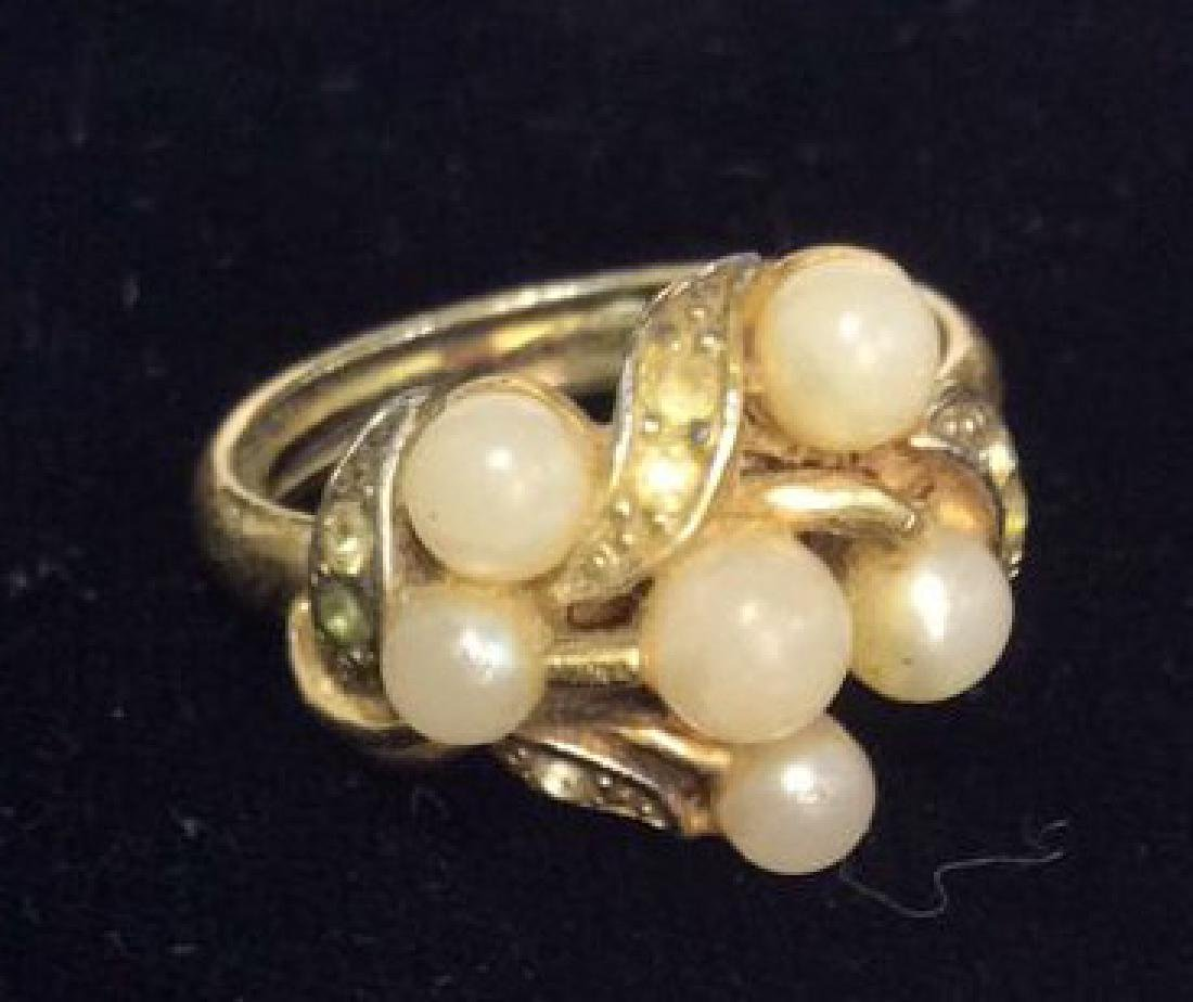 Group Lot 5 Vintage Pearl Jewelry - 8