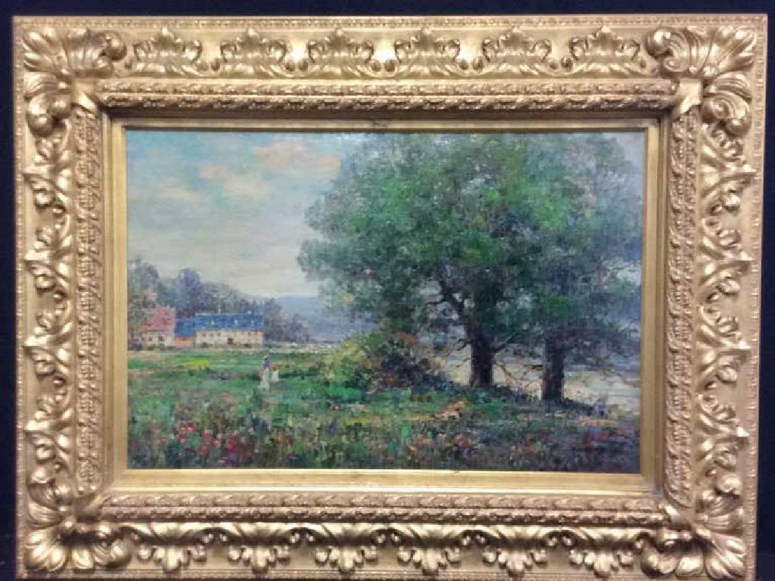 K EMBROSE Framed Impressionist Painting - 2