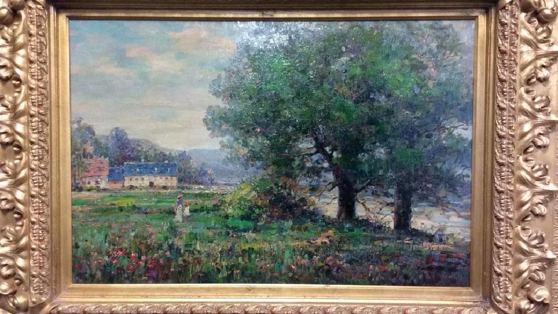 K EMBROSE Framed Impressionist Painting - 3
