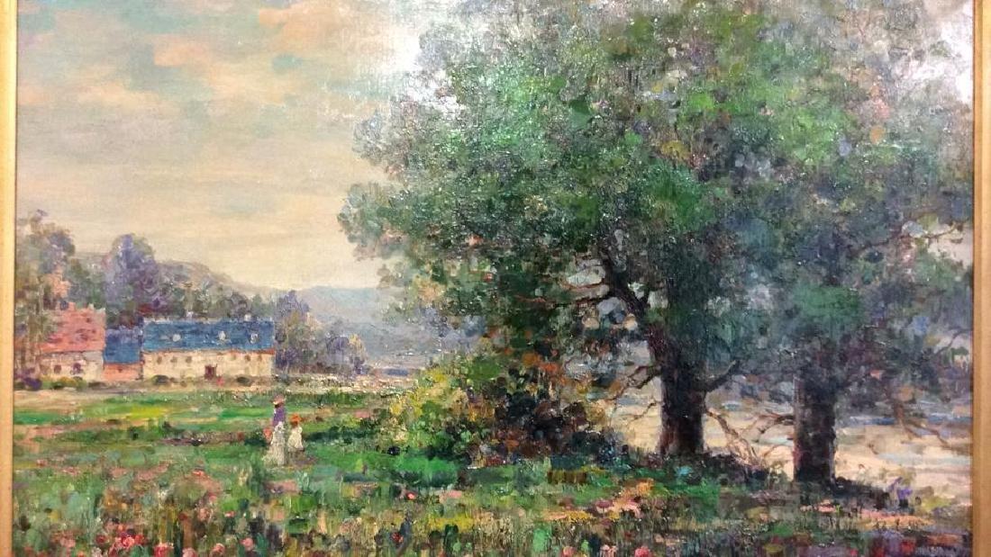 K EMBROSE Framed Impressionist Painting - 4