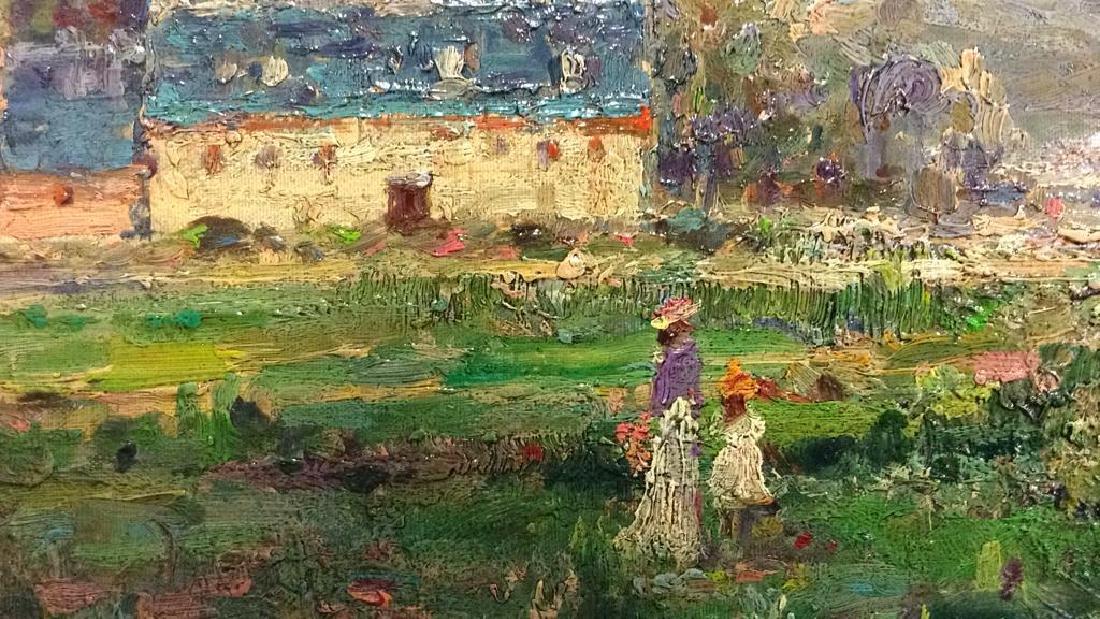 K EMBROSE Framed Impressionist Painting - 5