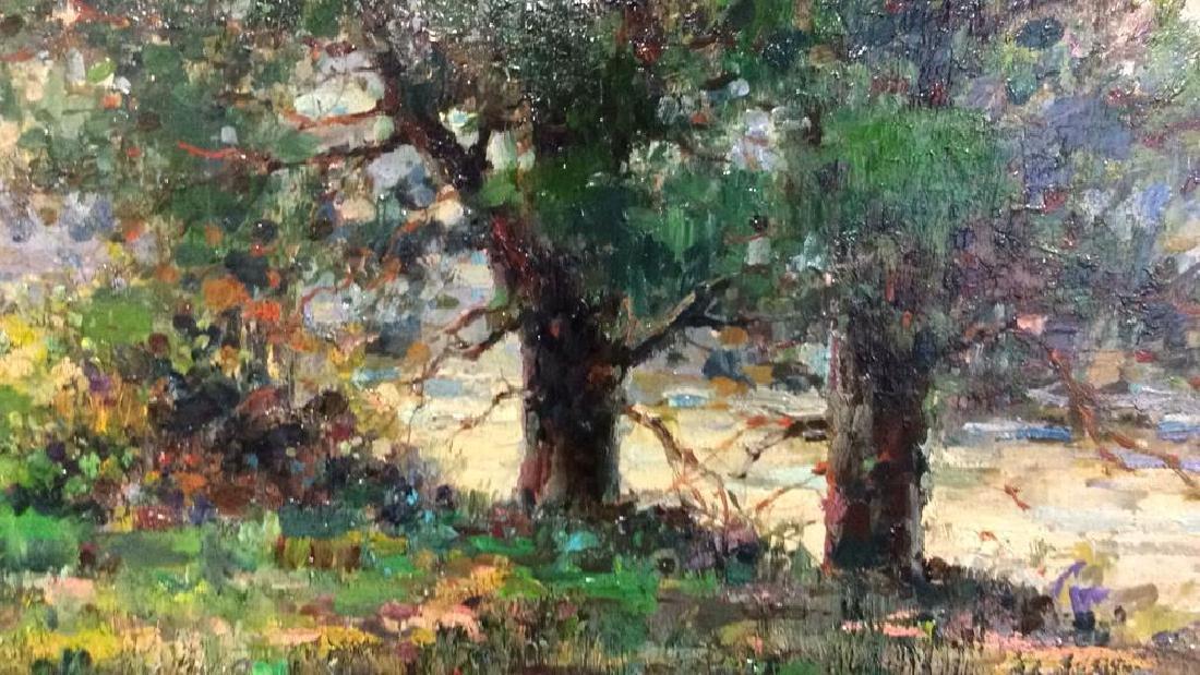 K EMBROSE Framed Impressionist Painting - 6