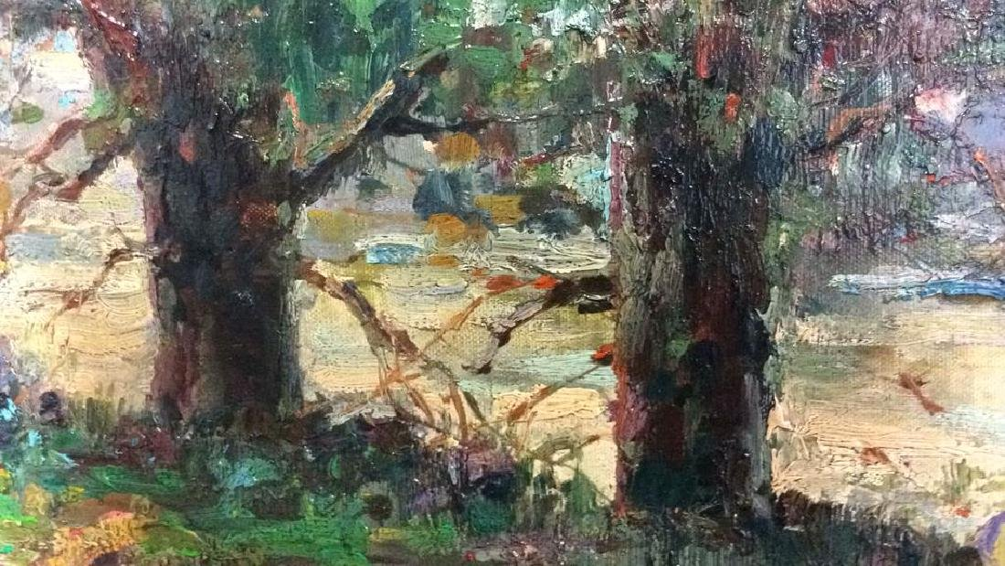 K EMBROSE Framed Impressionist Painting - 7