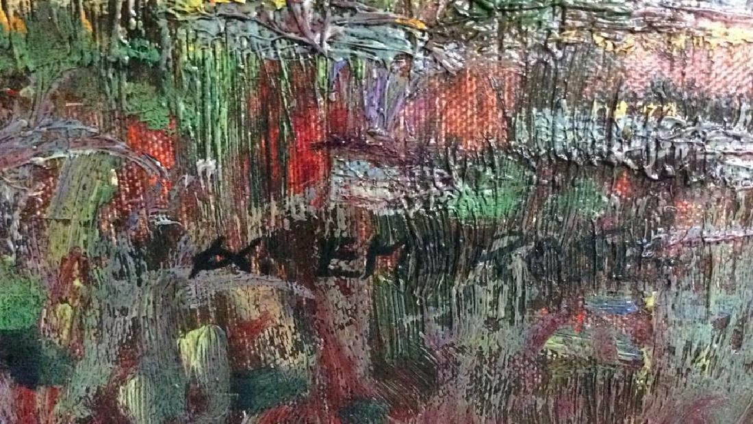 K EMBROSE Framed Impressionist Painting - 8