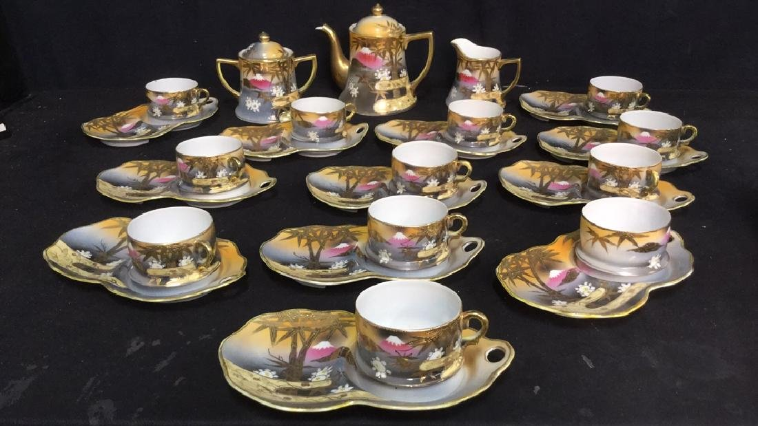 Lot 27 Marked Japanese Porcelain Tea Set