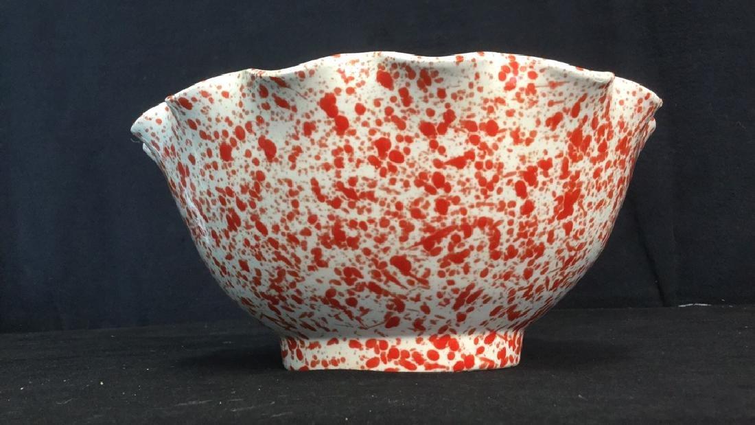 Vintage Italian Splattereware Centerpiece Bowl - 4