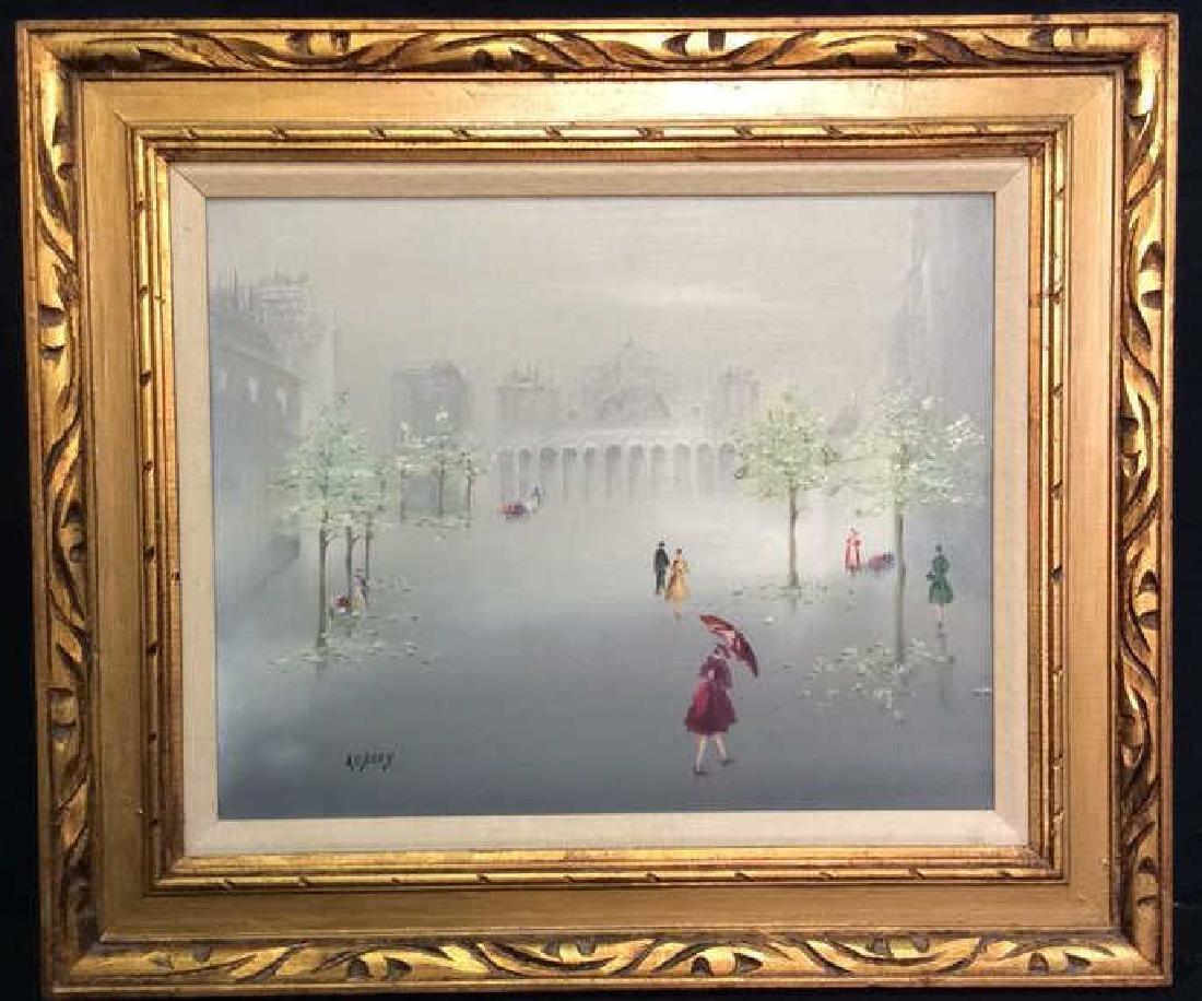 AUBREY Framed Painting On Canvas