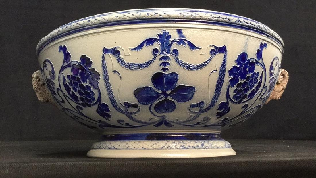 Hand Painted Centerpiece Bowl W Handles Germany
