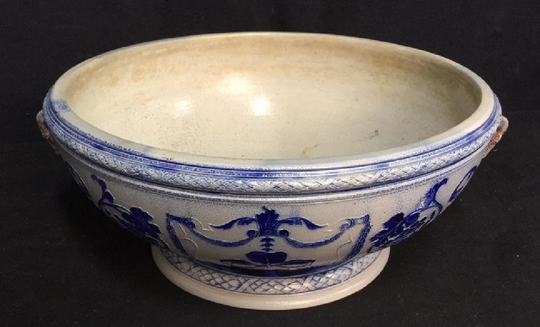 Hand Painted Centerpiece Bowl W Handles Germany - 7