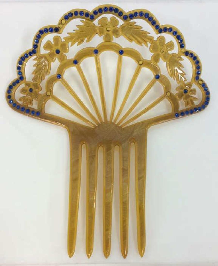Poss Antique Art Nouveau Celluloid Hair Comb