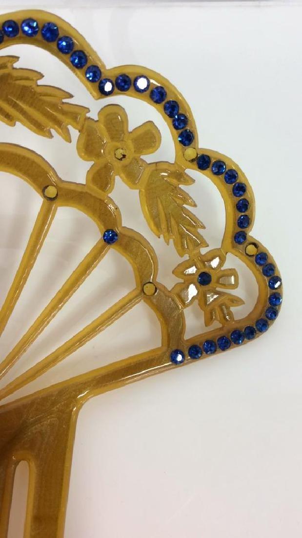 Poss Antique Art Nouveau Celluloid Hair Comb - 2