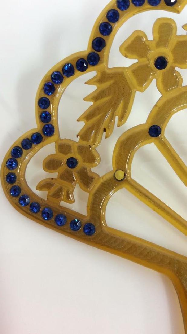 Poss Antique Art Nouveau Celluloid Hair Comb - 4