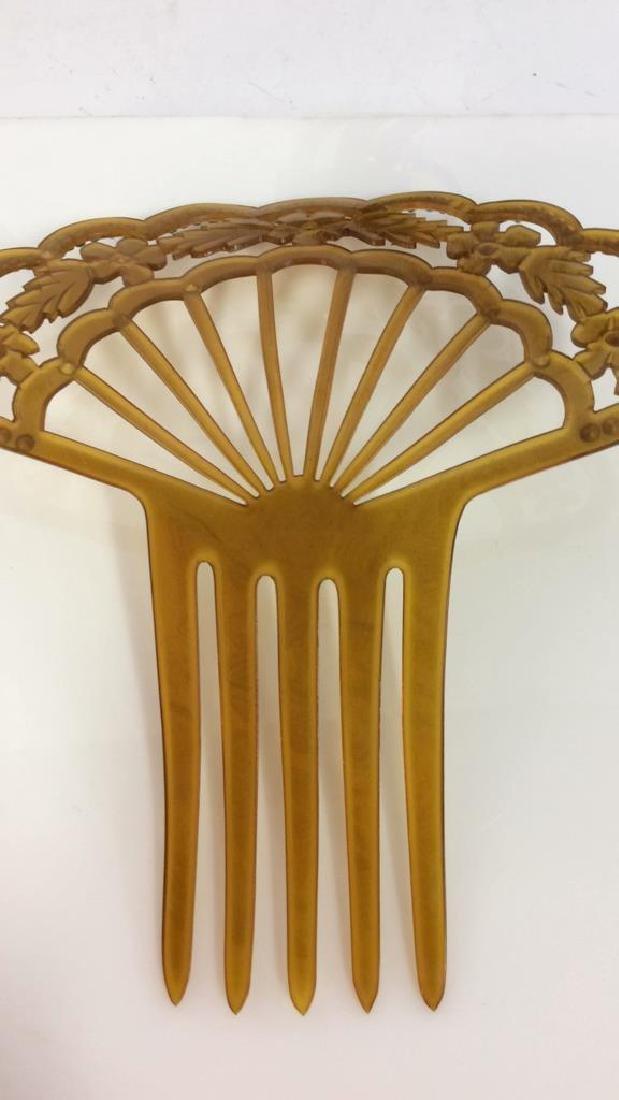 Poss Antique Art Nouveau Celluloid Hair Comb - 5