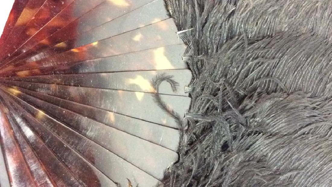 Vintage/ Antique Feathered Ladies Fan - 3