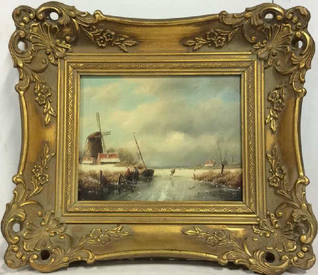 Framed Scenic Landscape Oil Painting