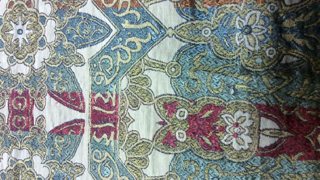 Vintage Embroidered Arabic Lettering Tapestry - 2