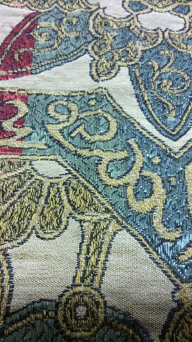 Vintage Embroidered Arabic Lettering Tapestry - 3