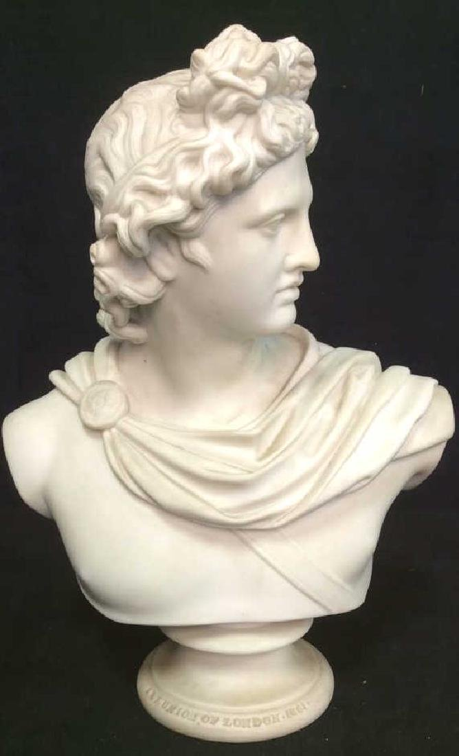 Cream Toned Alabaster Male Bust, England