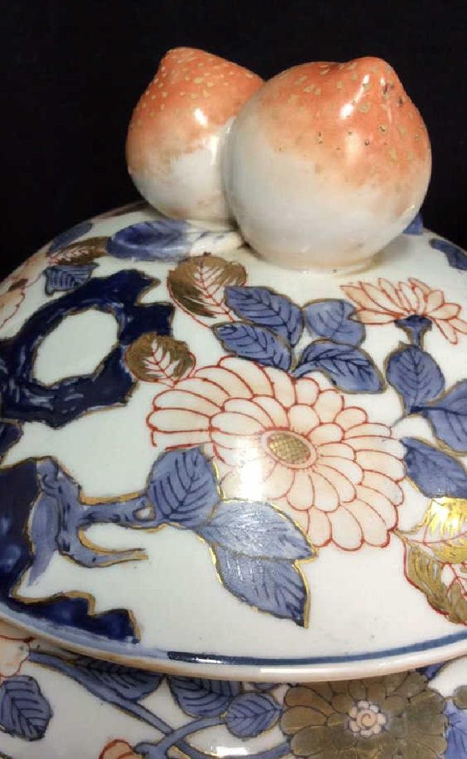 Pair Signed Oriental Painted Lidded Ginger Jars - 5