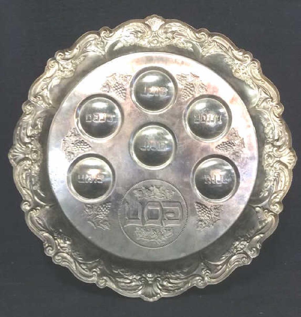 Silver Toned Metal Judaica Plate - 10