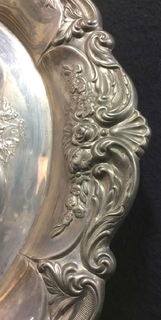 Silver Toned Metal Judaica Plate - 7