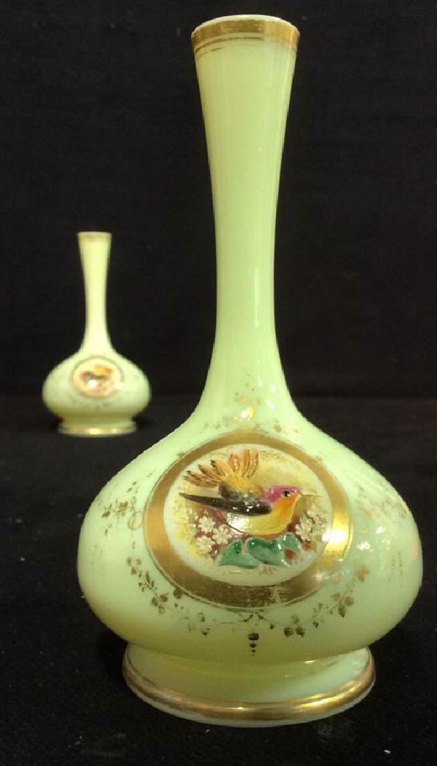 Lot 2,  Pair of Opaline Glass Vases - 3