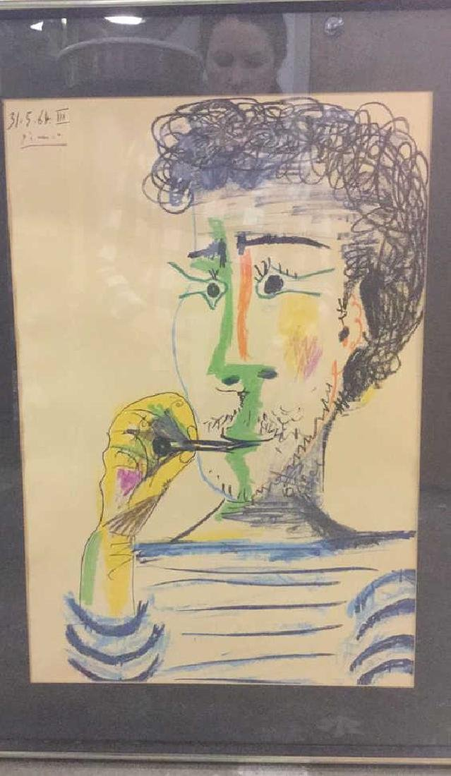 Picasso, Pablo Lithograph Man Smoking Pipe - 2