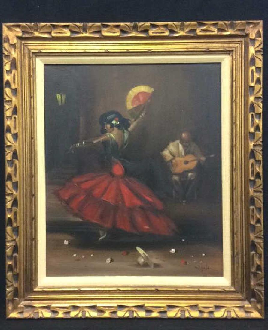 DELGADO Framed Painting On Canvas