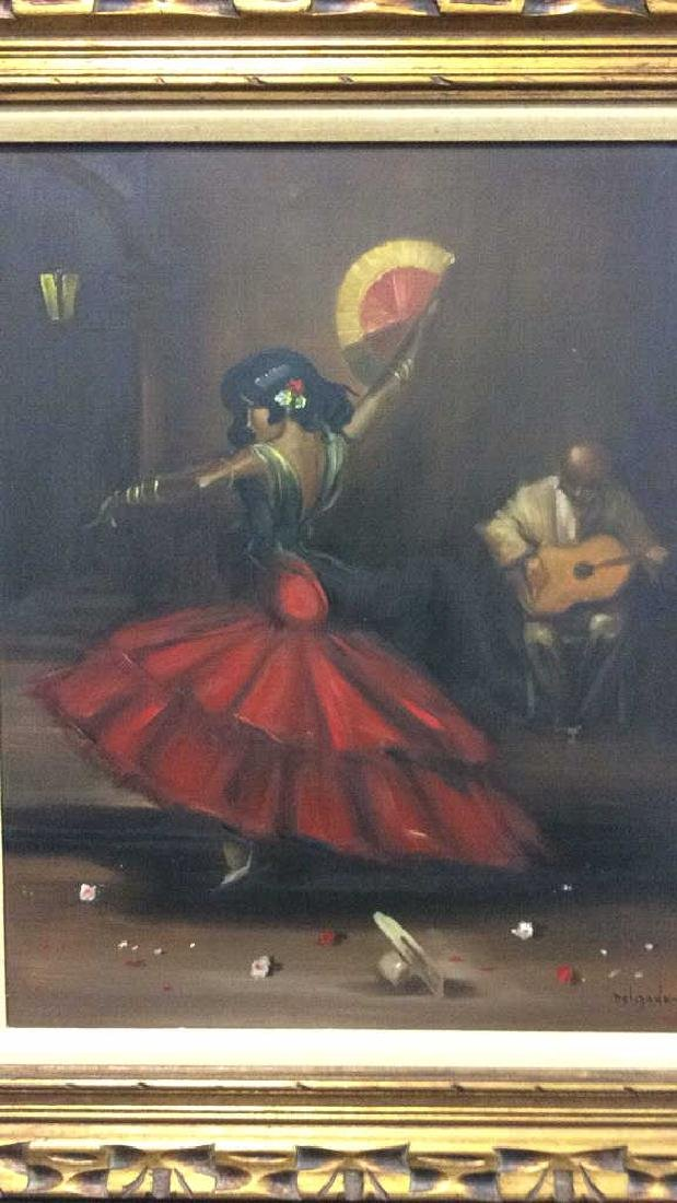 DELGADO Framed Painting On Canvas - 3
