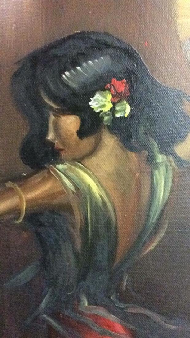 DELGADO Framed Painting On Canvas - 7