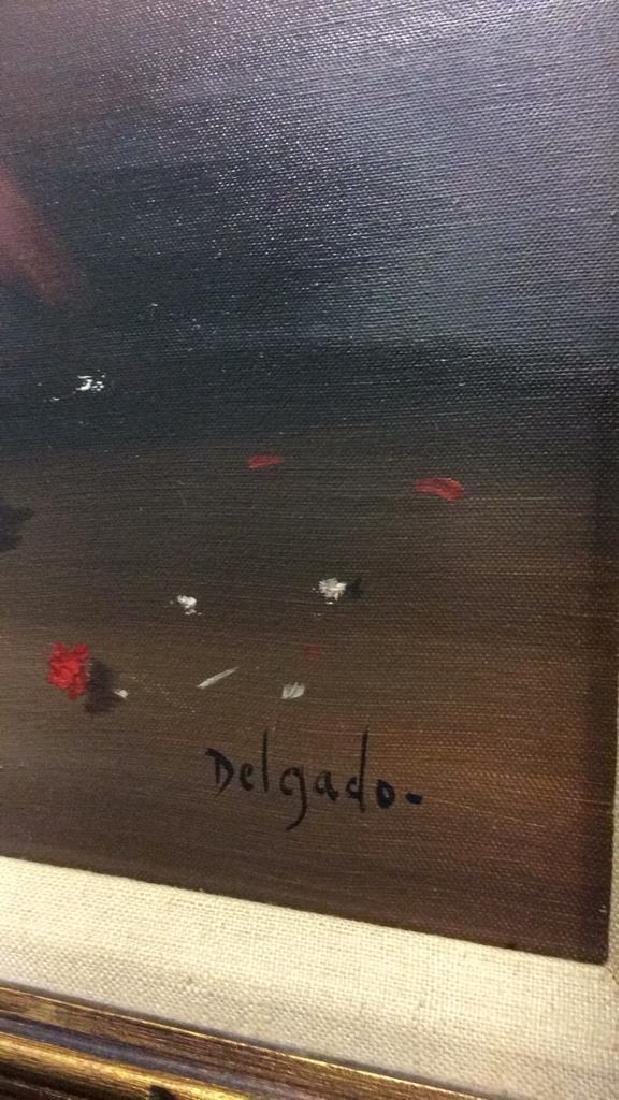 DELGADO Framed Painting On Canvas - 8