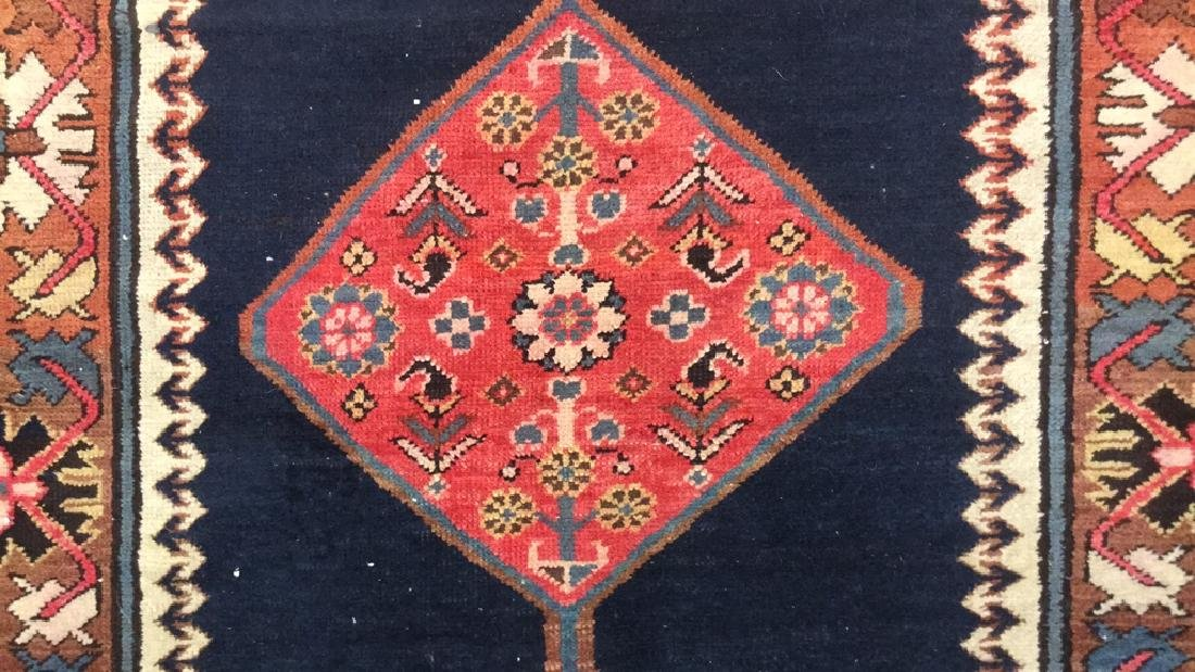 Vintage Oriental Handwoven Wool Carpet Runner - 10