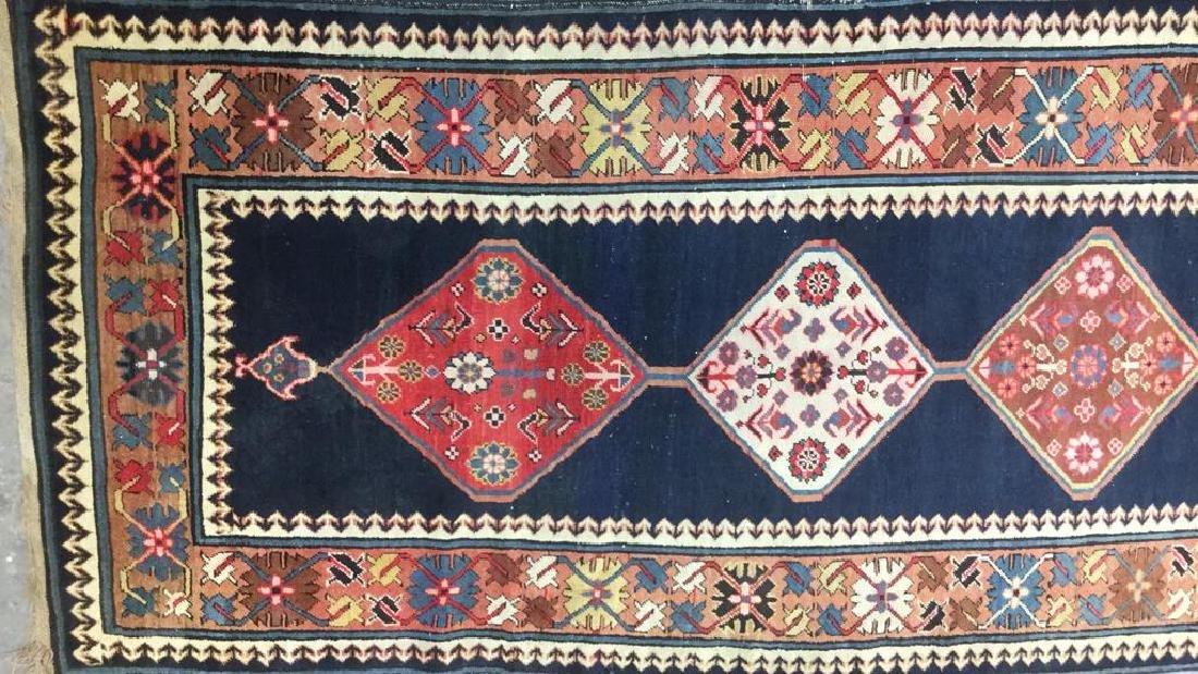 Vintage Oriental Handwoven Wool Carpet Runner