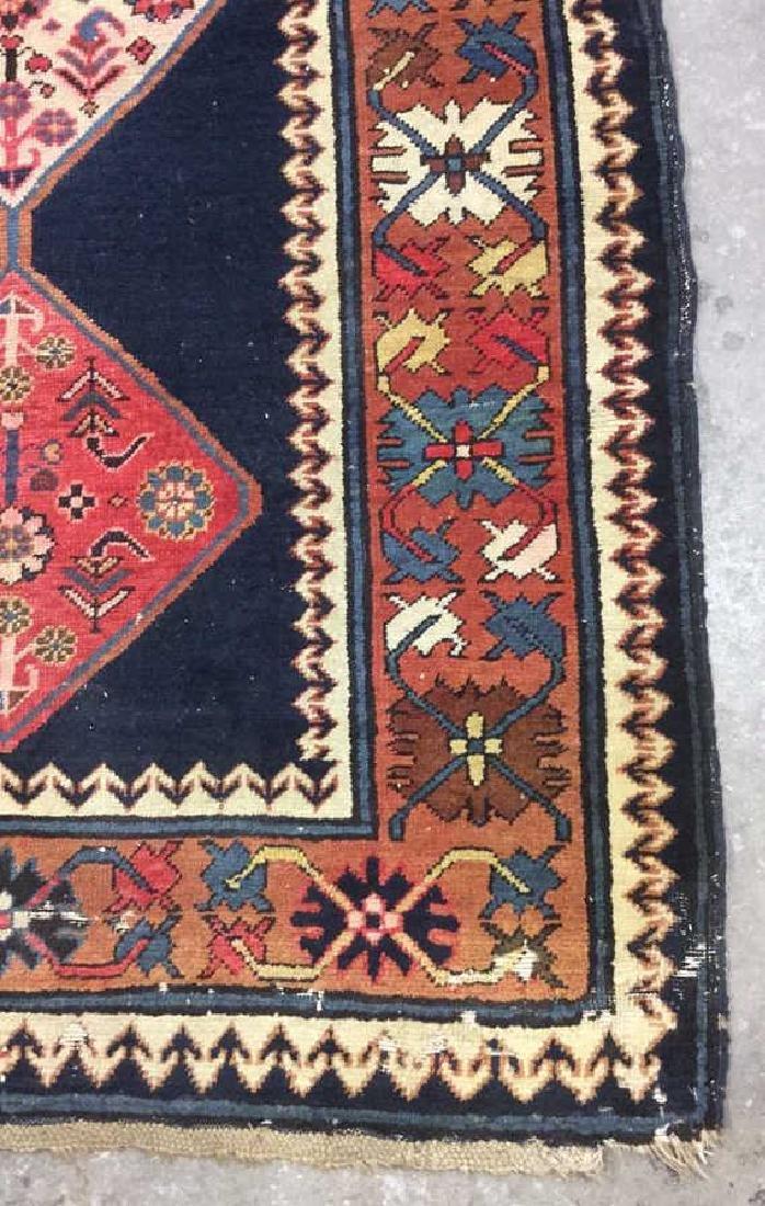Vintage Oriental Handwoven Wool Carpet Runner - 3