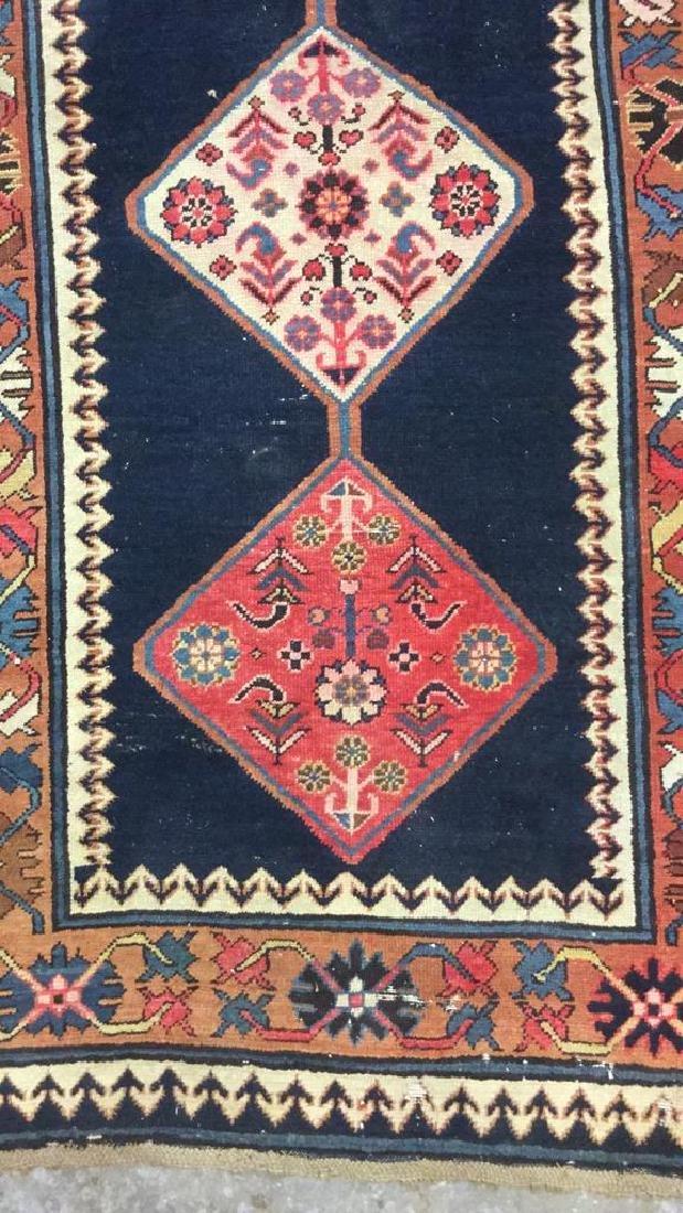Vintage Oriental Handwoven Wool Carpet Runner - 4