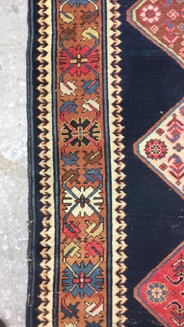Vintage Oriental Handwoven Wool Carpet Runner - 5