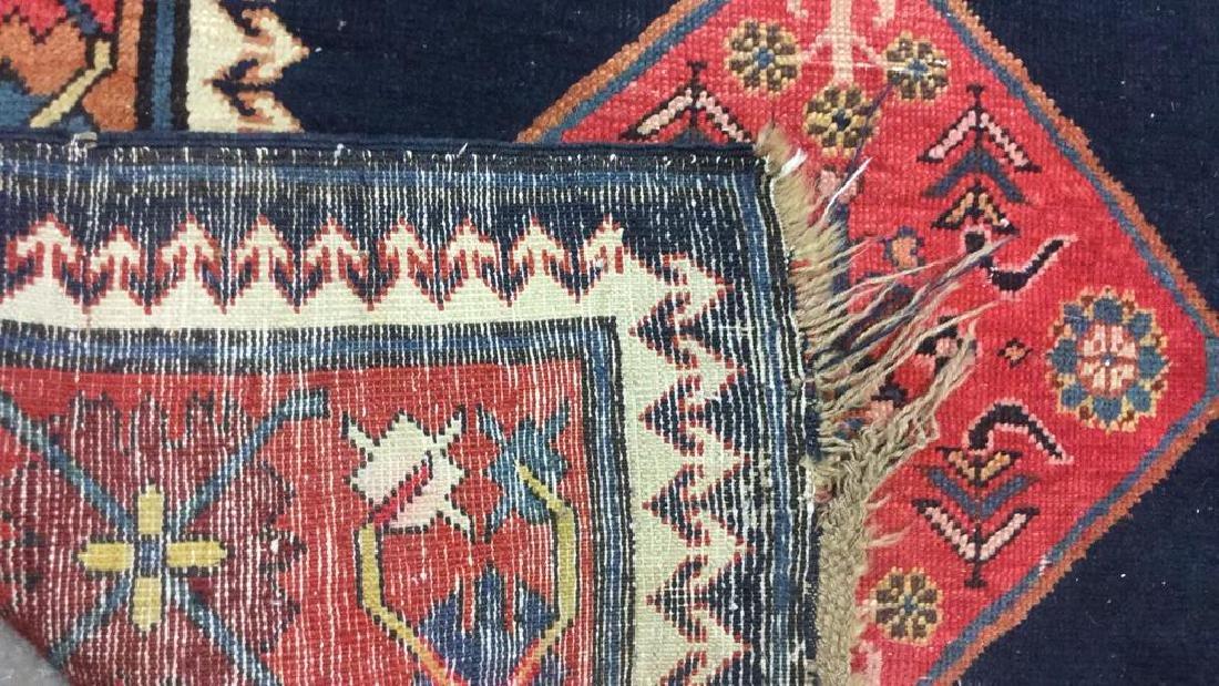 Vintage Oriental Handwoven Wool Carpet Runner - 6
