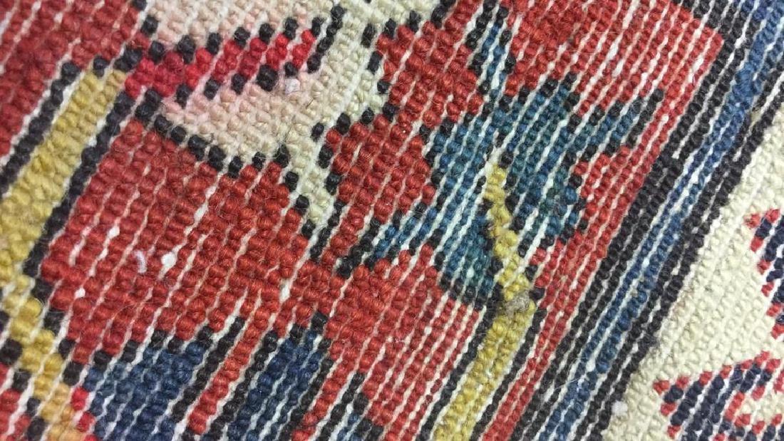 Vintage Oriental Handwoven Wool Carpet Runner - 7