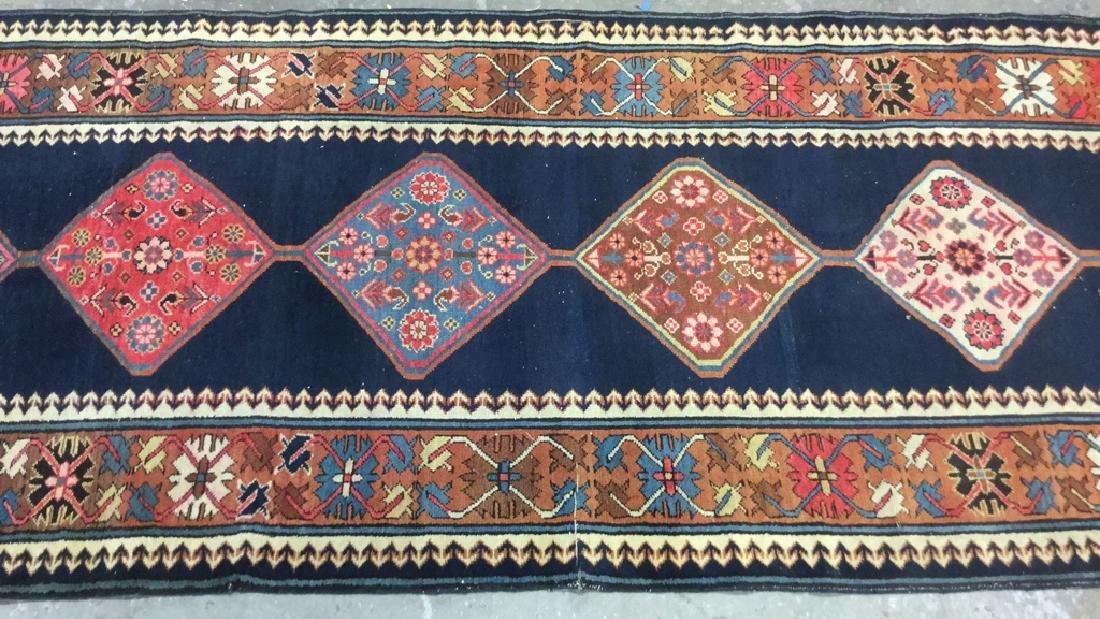 Vintage Oriental Handwoven Wool Carpet Runner - 8