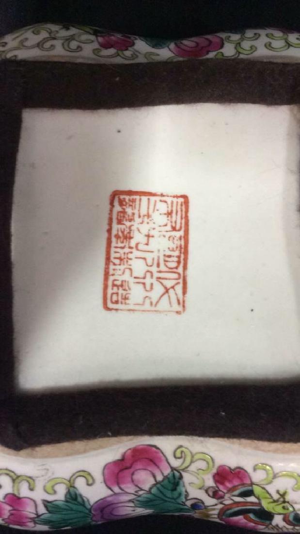 Vintage Oriental Porcelain Lidded Trinket Box - 7
