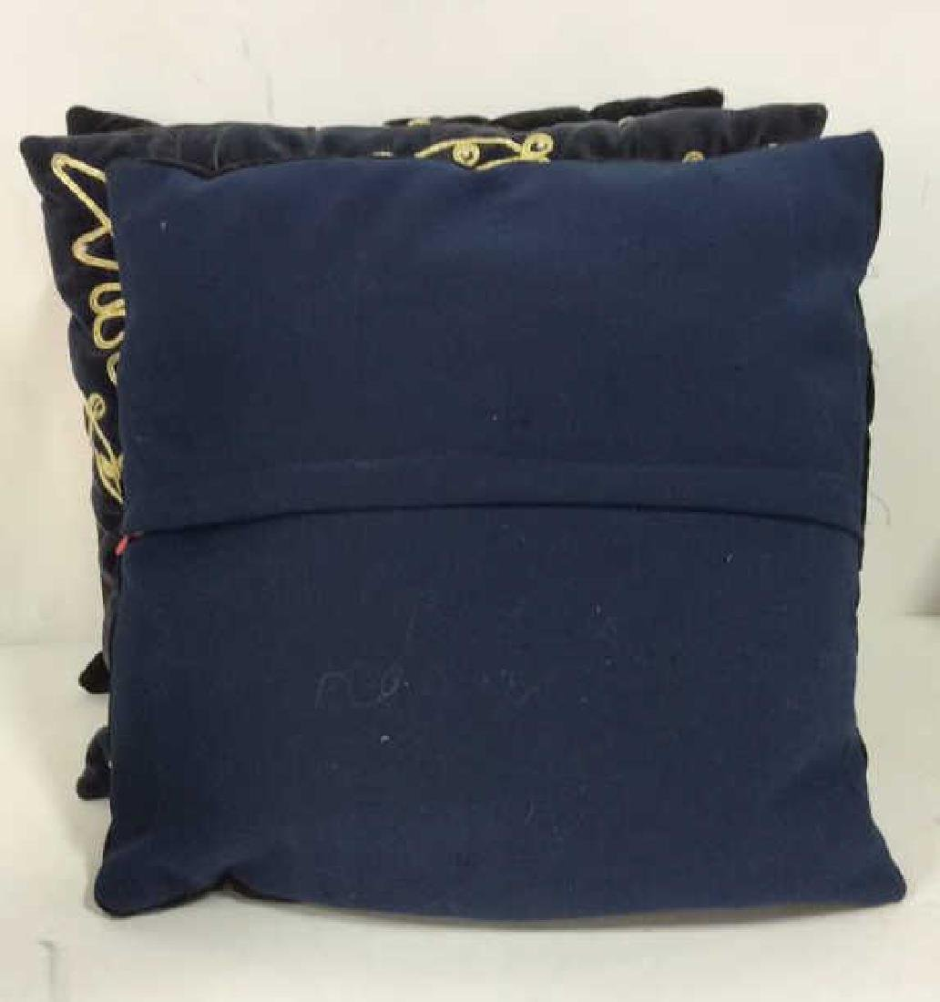 Lot 3 Poss Vintage Fabric Throw Pillows - 6