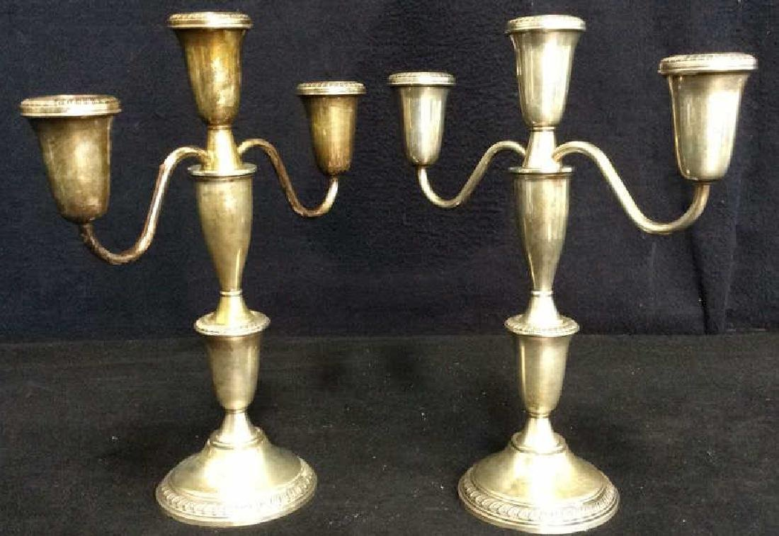 Lot 2 EMPRESS Sterling Weighted Candelabras