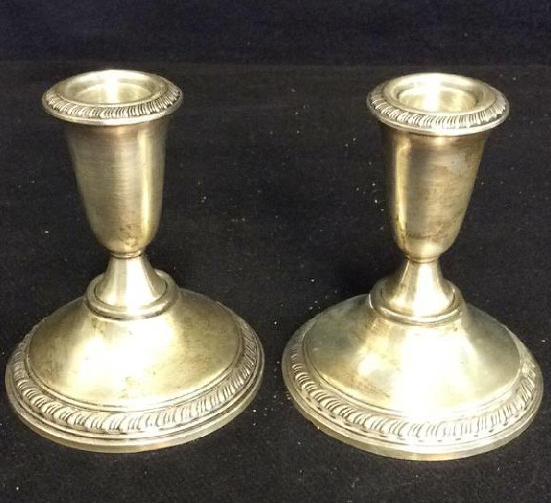 Lot 2 EMPRESS Sterling Weighted Candelabras - 8
