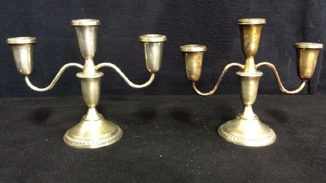 Lot 2 EMPRESS Sterling Weighted Candelabras - 9