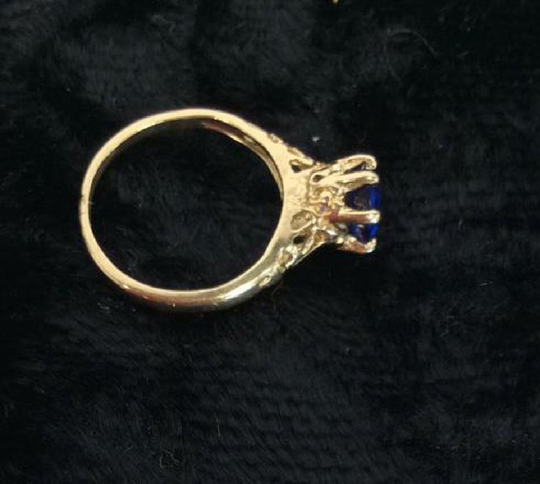 Pair Gold Plate and Gold Rings - 5