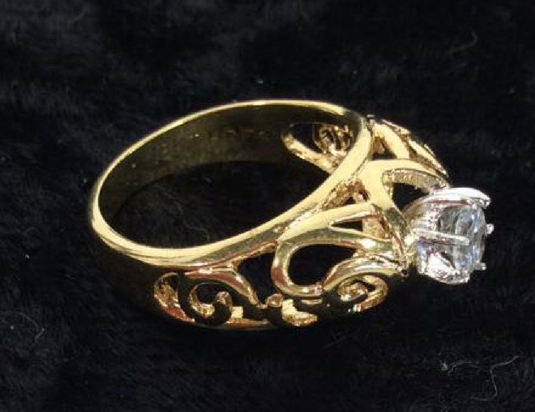 Pair Gold Plate and Gold Rings - 9