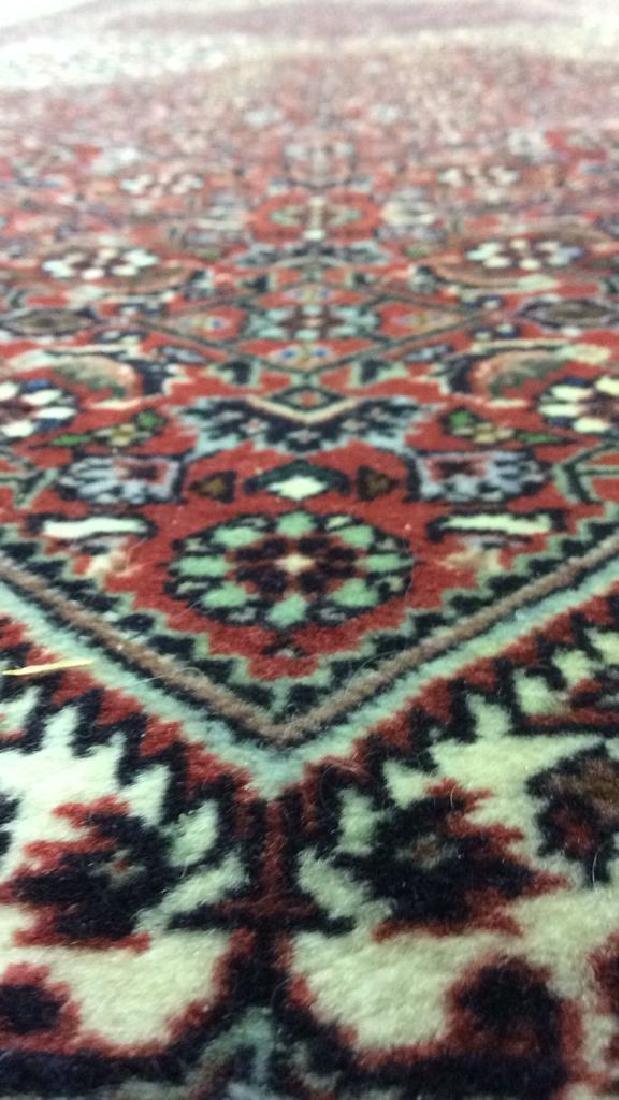 Intricately Detailed Fringed Wool Runner - 10