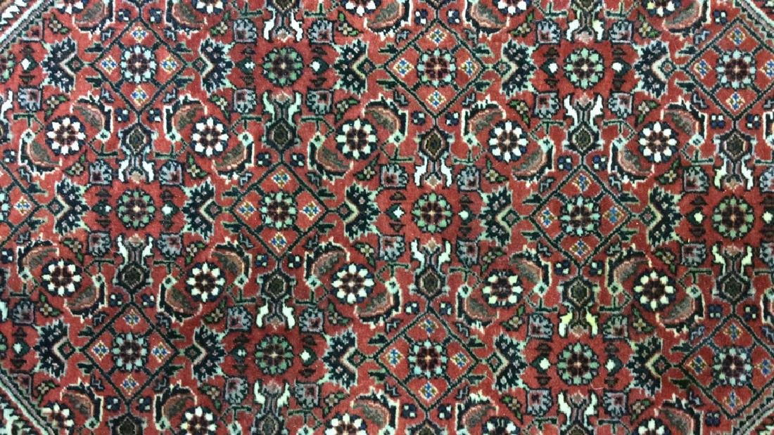 Intricately Detailed Fringed Wool Runner - 3